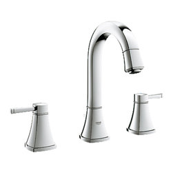 "Grohe - Grohe 20419000 Chrome Grandera Series Two Handle Widespread Lav Faucet - Grohe Grandera three hole bath faucet 20419 000. This bath faucet features a 3-hole installation, two lever handles for precise volume and temperature control, Grohe's WaterCare technology for a 1.5 GPM flow rate, a 1/2"" cartridge, pressure resistant flexible connection hoses, and a 1-1/4"" pop-up waste assembly. This model comes in a bright, StarLight Chrome finish."