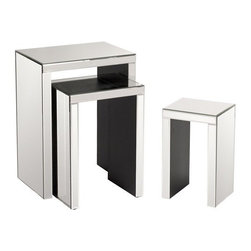 Howard Elliott - Howard Elliott 68007 Mirrored Accent Nesting Tables - set of 3 - Mirrored Accent Nesting Tables by Howard Elliott This set of 3 mirrored nesting accent tables are not only gorgeous, but functional and would make the perfect addition to any d�cor. Nesting Tables (3)