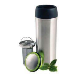 Highwave - TEAmo Time Capsule - The TEAmo Time Capsule comes with a tea infuser basket that snaps in securely. Either brew your tea in the basket and remove when finished steeping or put the tea and hot water in first, snap the tea basket in and go! Keeps your beverage hot approximately 6 hours. Push button open and close to drink. With final top on TEAmo is leak proof.