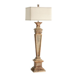 Joshua Marshal - One Light Limed Gracewood Floor Lamp - One Light Limed Gracewood Floor Lamp