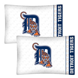 Store51 LLC - MLB Detroit Tigers Baseball Set of 2 Logo Pillow Cases - FEATURES:
