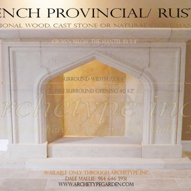 12.11   French Provincial/ Pointed Arch Fire Surround/ Fluted Molding Cuts -