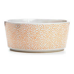 Waggo - Specktacular Polka Dot Dog Bowl, Rose Gold, Small - Your dog will ex-speck-t dinner in these cheerful dog bowls! Scattered dots and classic colors are sure to make this ceramic dog bowl an instant favorite. Choose from Charcoal, Red or Rose Gold to add a fun polka dot addition to your home!