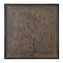 Uttermost - Spring Bloom Stretched Antiqued Stretched Canvas Wall Art - A  unique  wall  art  piece  called  Spring  Bloom  features  a  stretched  canvas  with  an  embossed  floral  design.  A  bronze-toned  wash  with  black  and  gold  highlights  will  help  to  create  an  elegant  focal  point  in  your  living  space.    This  stretched  canvas  art  features  flowers  and  leaves  in  detail  with  muted  embossed  natural  tones  to  blend  with  a  variety  of  decors.