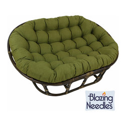 Blazing Needles - Blazing Needles 48x65-inch Indoor/ Outdoor Double Papasan Cushion - Add a touch of comfort and style to your home furnishings with this large indoor or outdoor double papasan cushion. Available in fourteen beautiful shades, this bold piece features a classic tufted cushion style.