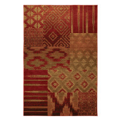 Karastan - Karastan Carmel 74700-13122 Cypress Point Crimson Rug - Can't decide on a decorating style? You don't have to. A patchwork of traditional and modern patterns, this area rug makes combining your two styles effortless.