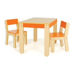 Little One's Table and Chairs, Orange - - Recommended For Ages 3 Years And Older