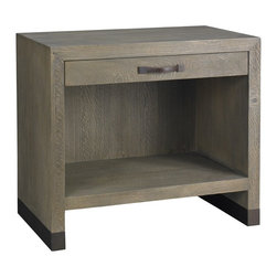 Lillian August - Lillian August Conner Nightstand in Weathered Wood LA98571-01 - A new industrial grey weathered wood finish has been added modern archives and is used on this conner nightstand as well as the metropolitan bed and the aiden dresser.