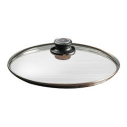 "Swiss Diamond - 11"" Tempered Glass Lid - Made with robust heat-tempered glass, the Swiss Diamond 11 inch (28 cm) glass lid offers durable convenience. It is designed for use with the Swiss Diamond Fry Pan, Saute Pan, Stock Pot and Wok  both the induction and standard models. It can also be used as a universal lid for any 28cm cookware body, such as skillets and Dutch ovens. The knob, made of high-quality thermoplastic, contains an adjustable steam vent  simply open or close the vent to release and contain the steam. Oven-safe up to 260 C (500 F). Do not subject the glass lid to a thermal shock, including putting the hot lid into cold water"