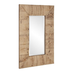 Howard Elliott - Concord Natural Wood Mirror Small - Our Concord mirror is simplistic in design and has a Natural Wood Grain.
