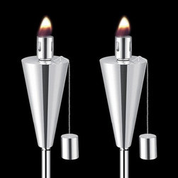 Lawn Cone (2 pk) Tall - Have fun with the cozy and enchanting ambiance of an outdoor fireplace with the Lawn Cone (2 pk) Tall.