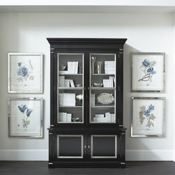 """Library Cabinet - This cabinet has the presence of an 18th century breakfront with a dramatic scale designed for today's homes. Show off your collection in the spacious build of this hutch cabinet. Measures 21""""d x 96""""h x 61""""w."""