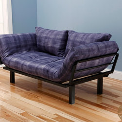 Christopher Knight Home - Christopher Knight Home Multi-Flex Black Metal Daybed/Lounger with Purple/ White - This unique and versatile lounger easily converts from a chair to a lounger or bed. Great to have in a bedroom or guset room for extra sleeping for the family or friends.