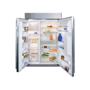 """Sub-Zero 48"""" Built In Side-by-Side Refrigerator/Freezer - The Sub-Zero BI-48SD side-by-side with dispenser offers ice and water dispensing through the refrigerator door. Exterior refinements include redesigned grilles and lower-profile hinges. Inside, new technology in food preservation makes the new built-ins nothing short of revolutionary."""