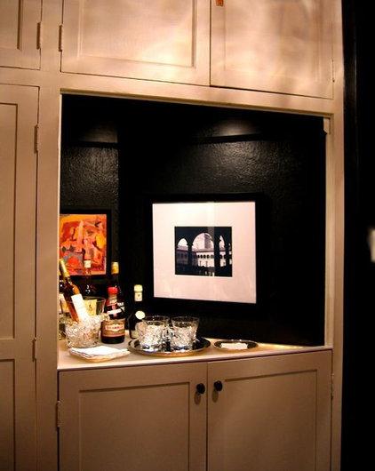 Eclectic Home Bar by Jennifer Hulse Design