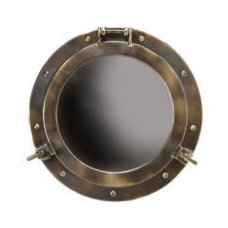 Large Porthole Mirror ~ Actually Opens Up ~ Nautical Decor ~ New in Box | eBay