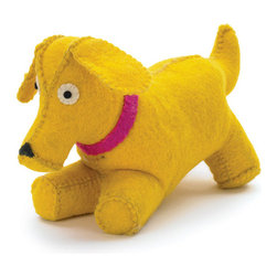 Felt Puppy Door Stopper - Puppy Door Stopper is perfect for your kids play room ,also perfect for giving gift to your kid on his/her birthday.Made from felt.