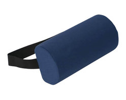 """Alex Orthopedic - D Roll Pillow - Gray - """"D"""" Roll Pillow - Gray, Helps reduce lower back pain and stress. Use while sitting or lying down. Strap holds cushion in position. Removable washable cover."""
