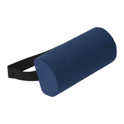 "Alex Orthopedic - D Roll Pillow - Gray - ""D"" Roll Pillow - Gray, Helps reduce lower back pain and stress. Use while sitting or lying down. Strap holds cushion in position. Removable washable cover."