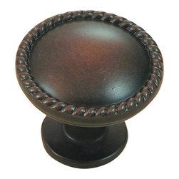 Stone Mill Hardware - Stone Mill Hardware Oil Rubbed Bronze Newport Cabinet Knob - Stone Mill Hardware - Oil Rubbed Bronze Newport Cabinet Knob