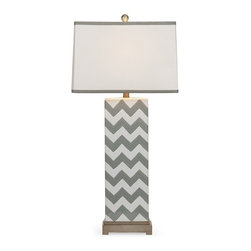IMAX CORPORATION - Chandler Grey Chevron Lamp - Chandler Grey Chevron Lamp. Find home furnishings, decor, and accessories from Posh Urban Furnishings. Beautiful, stylish furniture and decor that will brighten your home instantly. Shop modern, traditional, vintage, and world designs.