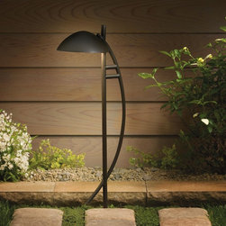 Kichler Contemporary Arch Path and Spread - I like the modern, geometric shapes that make up this path lighting. It adds architectural interest and accent lighting to its surroundings, assuring it will add to the landscaping both night and day.