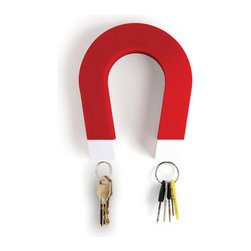 Jumbo Key Magnet - Jumbo Key Magnet is a wall mounted key holder shaped like a horseshoe.