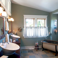 Craftsman Bathroom by Color in Space Inc.