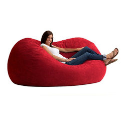 6 Ft XL Fuf Chair - Perfect for lounging in any position, the 6 Ft XL Fuf Chair is oversized to mold to every inch of your body. This large bean bag chair is comfortable seating for all ages and is ideal for any dorm room or bedroom.  Available in a variety of fashionable colors, resistant to spills and wipes clean with a damp cloth.