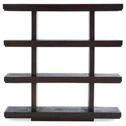 Kiko Rack 4 Shelf - Add a little zen to a larger bathroom by using open Japanese-influenced shelves to hold bath supplies, towels and candles.