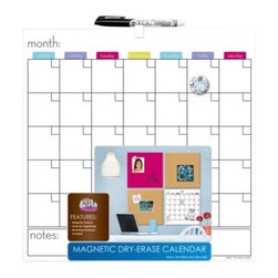 The Board Dudes Magnetic Dry-Erase Calendar - A magnetic dry-erase calendar makes it easy to see the month's activities at a glance.