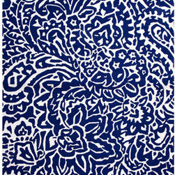 Jaipur - Barcelona I-O Blue and Ivory Rectangular: 5 Ft. x 7 Ft. 6 In. Rug - - Inspired by the rich history and range of design movements that have defined the architecture of Spain's cultural center the Barcelona Collection brings a transitional flair to any indoor or outdoor space. Whether the style leans towards fun boldly-scaled flourishes or understated simplicity this broad range offers something for every taste. Artfully developed in hand-hooked polypropylene Barcelona pairs the durability necessary to withstand the elements with the colorful spirit of the Catalonian countryside  - Cleaning and Care: Polyester is dirt and stain resistant and will look great for a long time just by vacuuming regularly. Dries fast so deep steam/rug cleaning works great to release dirt from fiber. If spills occur blot immediately. Use rug/carpet cleaners that are safe on synthetic fibers. Use professional cleaning agents only. To vacuum use an attachment arm or suction only to remove dirt particles  - Backing Material: Latex  - Companion Item: Rug Pad  - Pile Height: 0.25  - Construction: Indoor-Outdoor  - It is Sustainable  - Durable  - Easy Care  - Looped Pile  - Abstract Jaipur - RUG100203