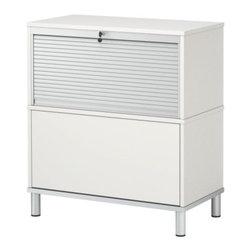 IKEA of Sweden - EFFEKTIV Storage combination on legs - Storage combination on legs, white, aluminum