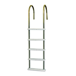 Blue Wave - Blue Wave In-Pool Stainless Steel Ladder - NE122SS - Shop for Pool Accessories from Hayneedle.com! The SplashNet Xpress In-Pool Stainless Steel Ladder makes it easy to enter and exit your above-ground pool. Super-strong stainless steel rails support up to 225 lbs. Extra deep polymer non-skid steps provide sure footing. Designed to fit up to 54-inch-deep pools this ladder has a pivoting base that conforms to sloping bottoms for safe contact. White plastic flanges are included for secure deck mounting. About SplashNet XpressSplashNet Xpress is dedicated to providing consumers with safe high-quality pool products delivered in a fast and friendly manner. While it's adding new product lines all the time SplashNet Xpress already handles pool maintenance items toys and games cleaning and maintenance devices solar products and aboveground pools.