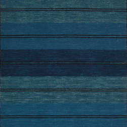 Showroom Products - This collection of coastal stripe rugs is made of 100% wool in a loop construcion for added texture,  Offered in a variety of sizes including custom.  Purchase from Hemphill's Rugs & Carpets Orange County, California.