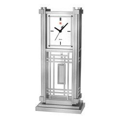 BULOVA - Frank Lloyd Wright Dana House Mantel Clock - From the Frank Lloyd Wright Collection.