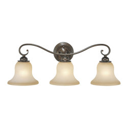 Vaxcel - Monrovia 3 Light Vanity - Vaxcel VL35473RBZ/B Monrovia Royal Bronze 3 Light Vanity