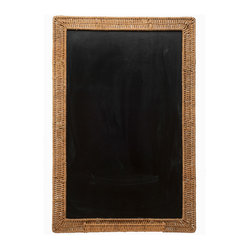 Kouboo - Wicker Framed Blackboard - Talk about old school! A blackboard framed in hand-woven wicker lends a charming touch to your daily reminders. Perfect for your kitchen, office or a child's room.