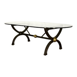 """GILANI - Tuscany Dining Table Base - Tuscany Dining Table Base (Large). Style no: DT86200. 60""""w x 33""""d x 29 1/2""""h."""