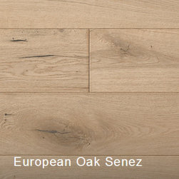 """Provence Collection European Oak Senez - 1/2 x 6.5""""- random lengths (16""""-71"""") - Wire-brushed, matte finish - Anti-scratch finish with Aluminum Oxide - Micro-beveled ends/edges - Installation options: above or on grade; glue, nail, or floating - 25 year finish and lifetime structural warranty"""