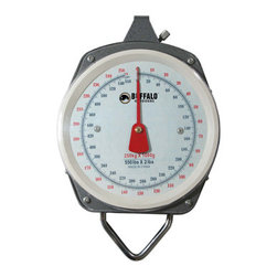 New Buffalo Corp. - Buffalo Outdoor 550 Pound Capacity Hanging Scale - The Buffalo Outdoor 550 Lbs. capacity Hanging Scale is the perfect choice for hunters, butchers and anglers. The lightweight yet durable construction can easily be moved from the campsite to the truck. Use it with a gambrel and hoist to weigh and prepare game. This Hanging Scale Includes two industrial-grade steel hooks, and has an easy to read dial that displays weight in both pounds and kilograms. Whether you're preparing game, processing meat, or just weighing out portions of food, the Sportsman Series 550 Lbs. Capacity Hanging Scale will help you get it right every time.