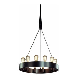 """24"""" Candelaria Chandelier - I love that this chandy is industrial and kind of stripped down glam at the same time! You can dress it up or dress it down depending upon what you pair it with."""