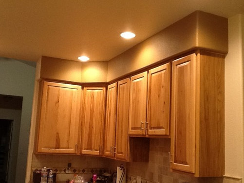 Need Help With Ugly Soffit Above Kitchen Cabinets
