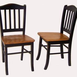 Boraam - Pair of Shaker Style Hardwood Dining Chairs w - Classic design. Shaped seat. Made from Solid hardwood. Distressed finish. Minimal assembly required. Seat Depth: 20 mm.. Overall: 17 in. W x 15 in. D x 34.75 in. H