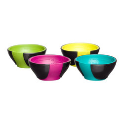 Chef'n SleekStor Pinch with Pour Mini Prep Bowl Set, Trend Colors - These colorful mini prep bowls also have measurement markers! Who cares if you're only cooking for yourself? Prepped ingredients will make you feel like Julia Child while you cook.
