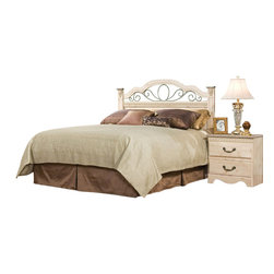 Standard Furniture - Standard Furniture Seville 4-Piece Panel Headboard Bedroom Set - Seville offers a warm blend of soft tones and granite color illustrate the European Country style of this collection. Wood products with simulated wood grain laminates. This group may contain plastic parts. Metal is used for the grills. Drawers offer roller side drawer guides allowing for easy operation. Drawer stops are included for safety. Bail pulls and knobs with simulated pewter color finish. Old fashioned wood color and simulated Jura granite. Surfaces clean easily with a soft cloth.