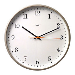 Bai Design - Bodoni 16-Inch Designer Wall Clock - - Spray-painted ABS bezel  - Silkscreen-printed PVC dial  - Spray-painted metal hands   - Quality silent movement with sweeping second hand  - Assembly not required   - Manufactured in China Bai Design - 945.BO