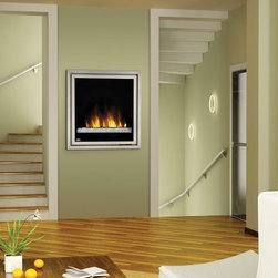Napoleon - Napoleon 30-in Plug-In Electric Fireplace Insert w/ Glass Embers - EF30G - The Napoleon 30-in Plug-In Electric Fireplace Insert features a CRYSTALINE™ ember bed which captures and reflects light for a dazzling visual effect. To create the illusion of depth, tinted reflective panels are framed by modern pewter trim to quickly become the focal point of any room.