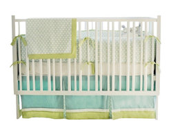 """Sprout Crib Baby Bedding Set 3 Piece Set - The two piece baby bedding crib set includes a crib sheet and a 17"""" tailored skirt. Three piece set includes bumper, sheet and skirt. Bumper is slip covered for easy cleaning. Make it a four piece set by including a coordination blanket."""