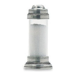 Match Pewter - Toscana Salt Shaker by Match Pewter - In a world dominated by mass production, Match pewter is handmade by artisans in Northern Italy. Its classic forms harmonize with both traditional and modern settings, recalling celebrations at well laid tables. Each piece bears a stamped symbol from the region in which it was made.